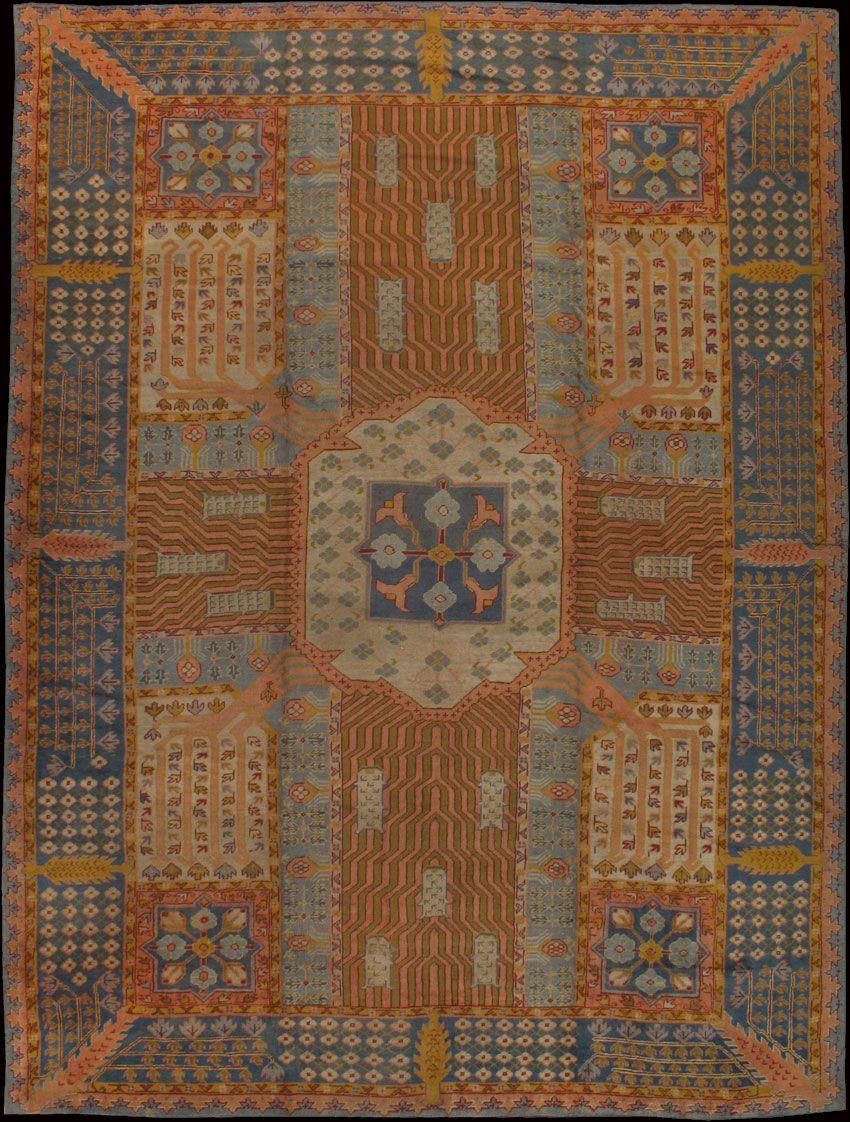OUSHAK  Origin: WEST ANATOLIA  Circa: 1920  Size/Feet & Inches: 11'7'' x 15'4''  Size/Meters: 3.53 x 4.67