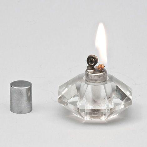 Vintage Allbright Crystal Table Lighter Iain Claridge Cool Lighters Crystal Light Glass Table