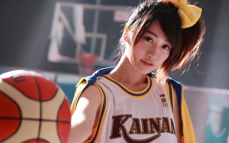 Japanese girl, basketball, sports uniform wallpaper