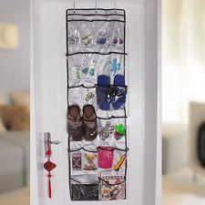 Good 22 Pockets Clear Over Door Hanging Bag Shoe Rack Hanger Storage Tidy  Organizer