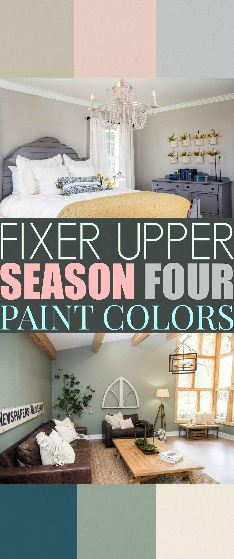 Fixer Upper Season Four Paint Colors Best Matches For Your Home The Weathered Fox Fixer Upper Living Room Paint Colors For Living Room Fixer Upper Paint Colors
