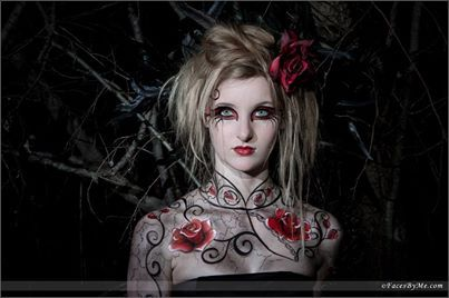 Beauty within the Darkness face and body painting.  www.facesbyme.com