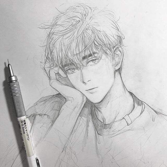 Pin By Laura Masters On Anime Portrait Anime Drawings Boy Anime Drawings Anime Drawings Sketches
