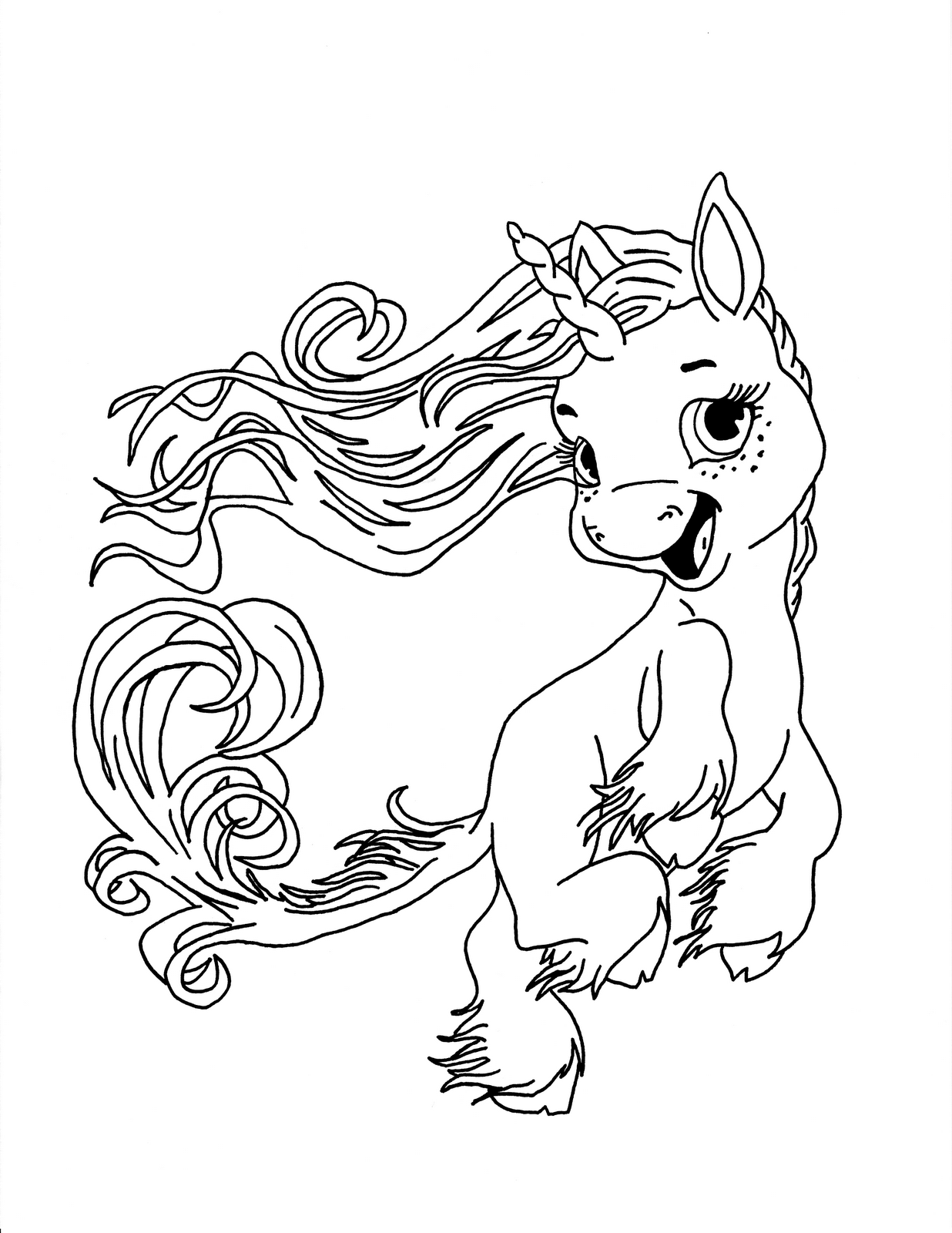 Great Free Printable Unicorn Coloring