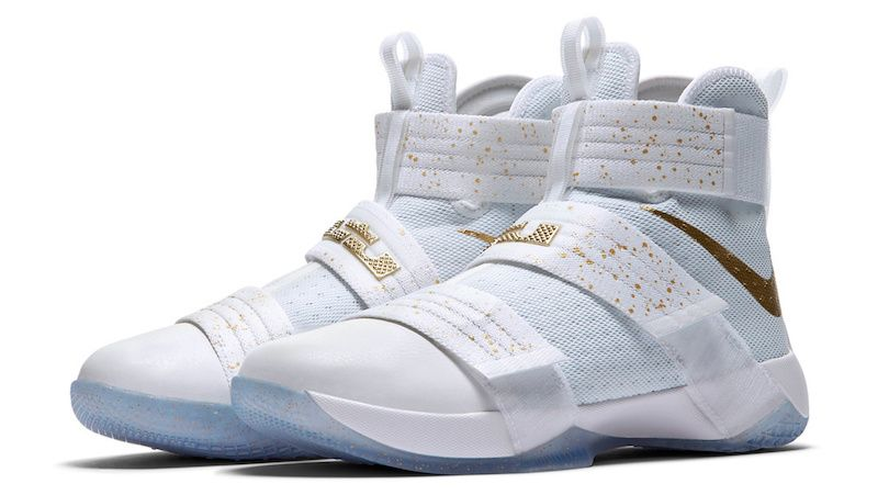 An Official Look At The Nike LeBron Zoom Soldier 10 Gold Medal ... 94a2eb3aaa