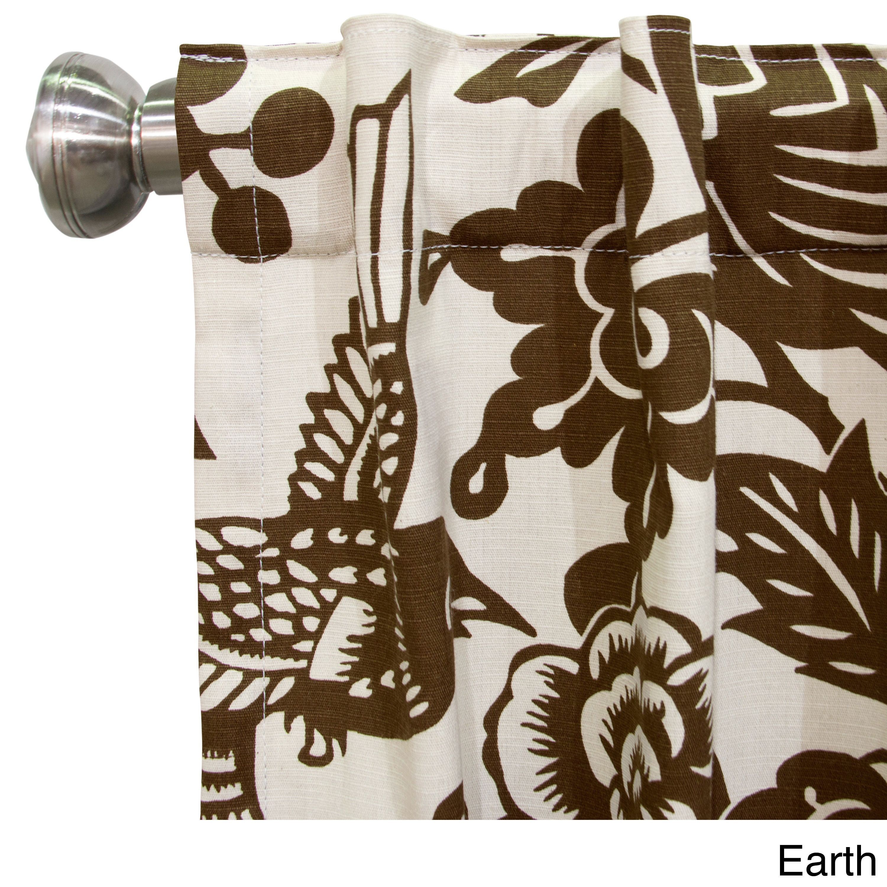 Skyline Furniture Canary Window Curtain Panel (Canary Earth, 120), Brown, Size 50 x 120 (Cotton, Animal Print)
