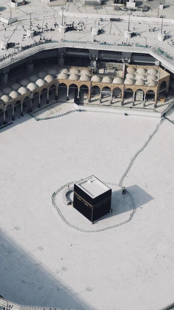 The Grand Mosque of Mecca today. It was closed to prevent the spread of the coronavirus.