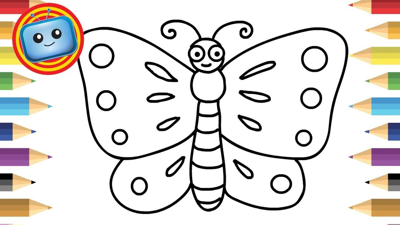 How To Draw A Butterfly For Kids Simple Drawing Game Animation Butterfly Drawing Drawing Pictures For Kids Easy Drawings For Kids