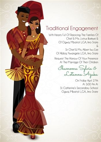 Fine fine love african traditional wedding invitation traditional african traditional wedding invitation card stopboris Images
