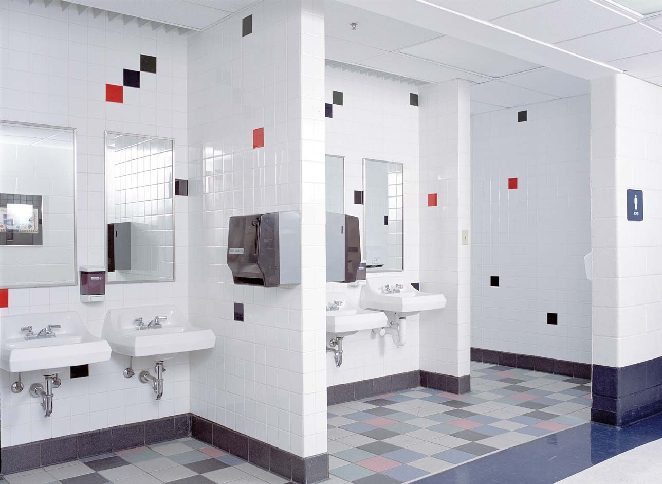 school restroom design  New Haven Middle and Elementary School