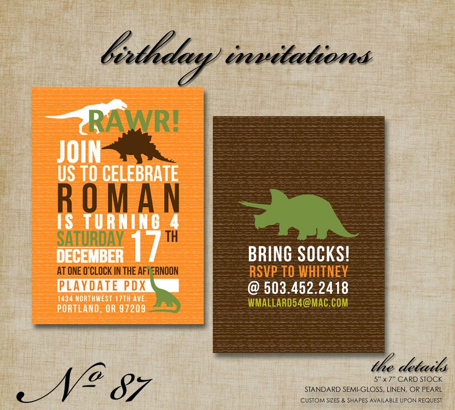 Take a bite out of these dino invites | 1st bday | Pinterest