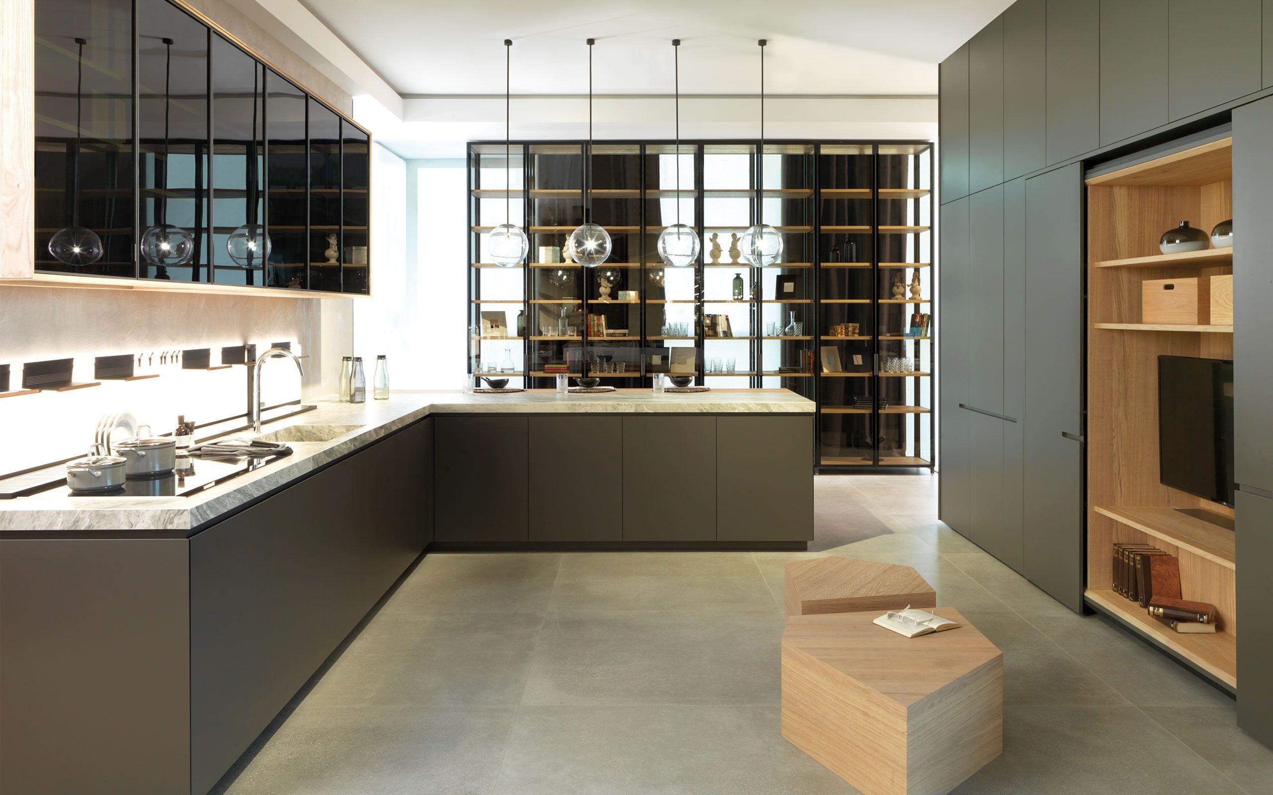E4 30 Pizarra Mate Roble Puro Cocinas Kitchens Gamadecor Porcelanosa Mobiliario De Cocina Emotions Gamadecor Kitchen Furniture Kitchen Y Kitchen Cabi