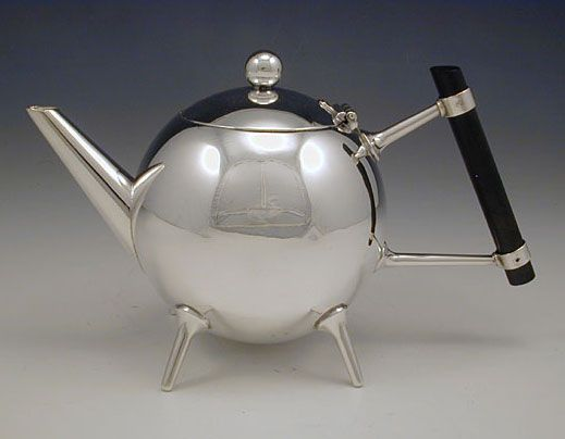 Dr Christopher Dresser Teapot Silverplate On Br Manufactured By James Dixon Son