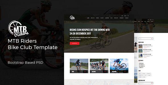 Mtb Riders Mountain Bike Psd Template
