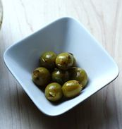 olives stuffed with oranges, for your martini