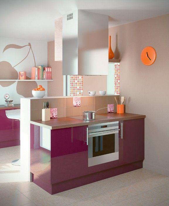 cuisine prune une couleur tendance pour un am nagement parfait originaux multim dia et. Black Bedroom Furniture Sets. Home Design Ideas