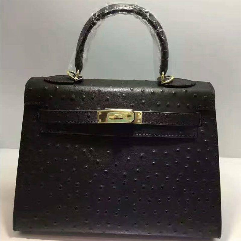 984d67d924 Hermes Kelly Bag Ostrich Leather Gold Hardware In Black | Hermes ...