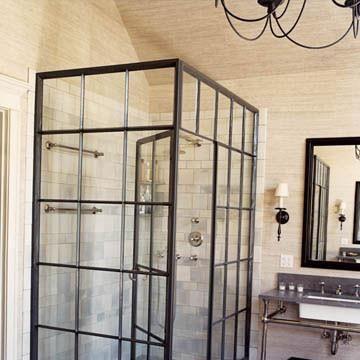 alte fabrikfenster zur dusche diy pinterest. Black Bedroom Furniture Sets. Home Design Ideas