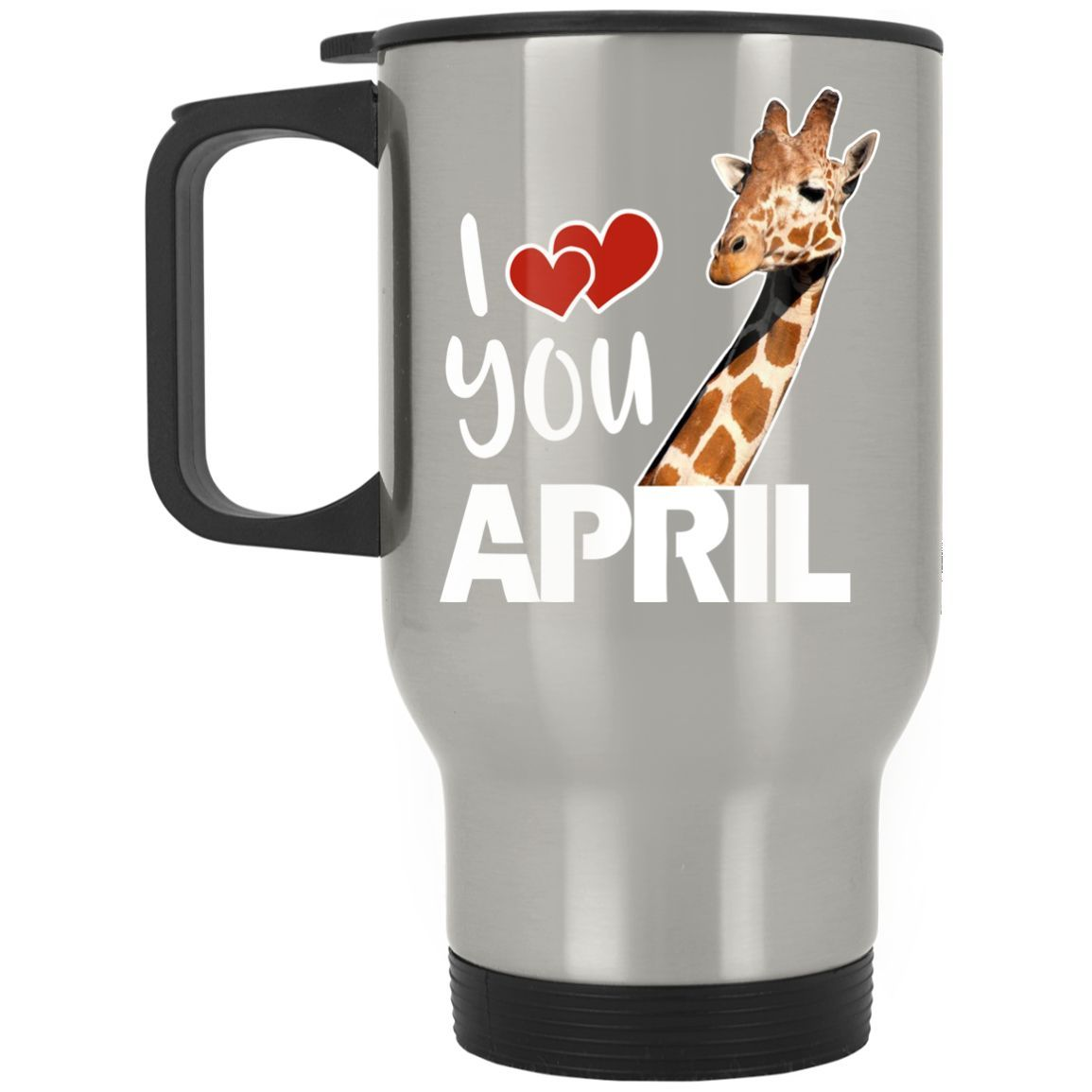 April The Giraffe T Shirt Silver Stainless Travel Mug | Products ...