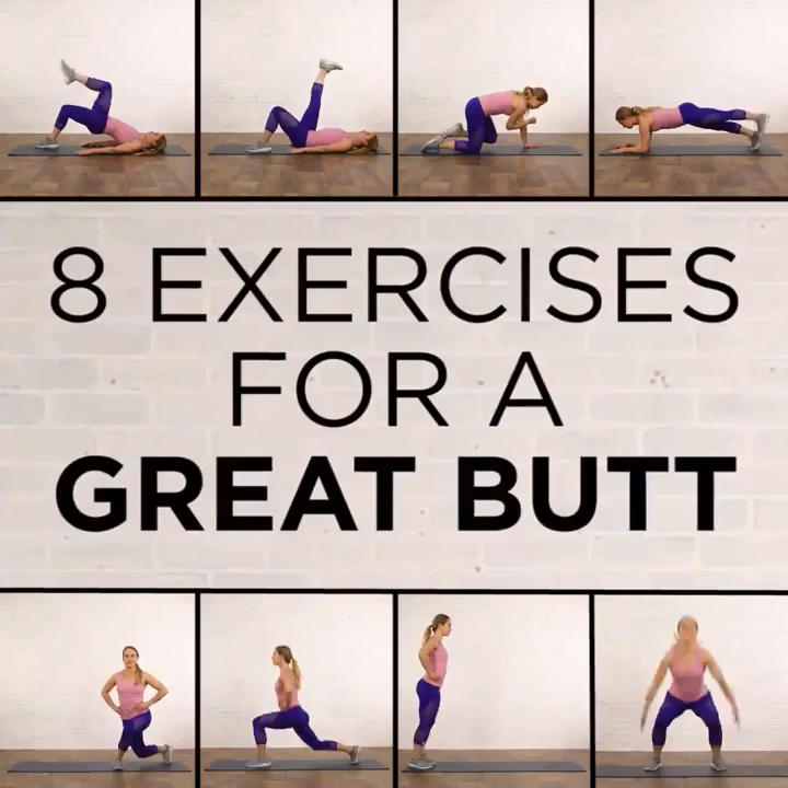 8 exercises for great butt, get in shape, butt workout,booty workout plan #butt #fitness #workout #bicepsworkout