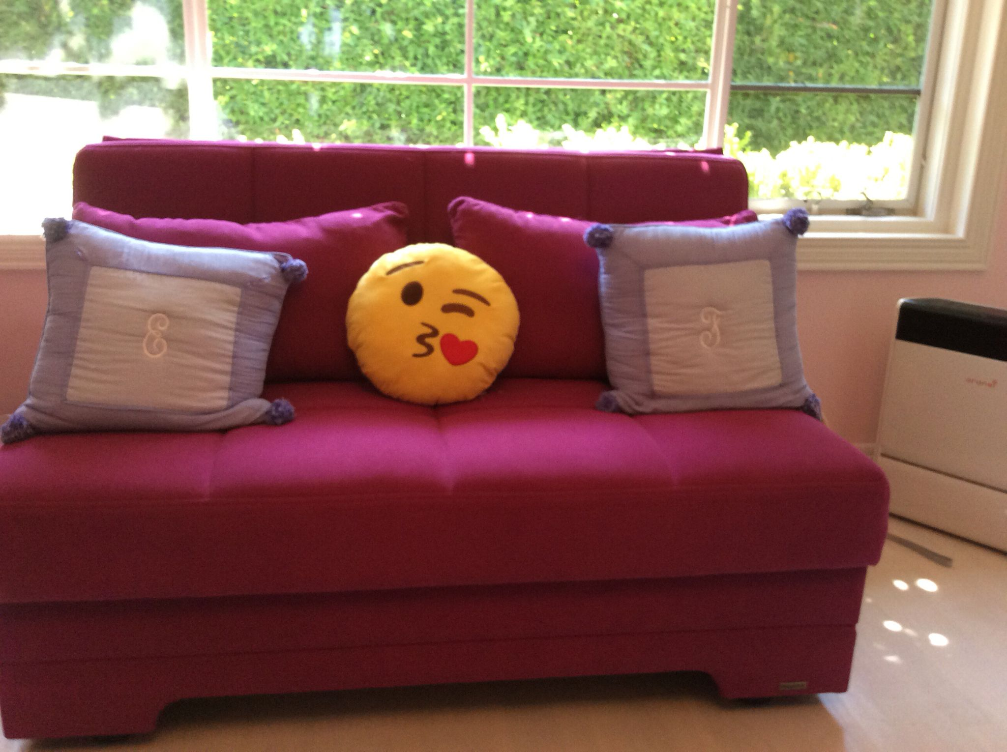 Pull out couch with emoji pillow Kids room Pinterest