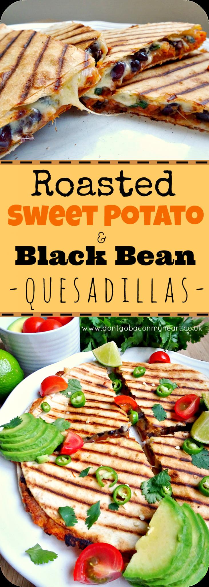 Sweet Potato and Black Bean Quesadillas | Don't Go Bacon My Heart