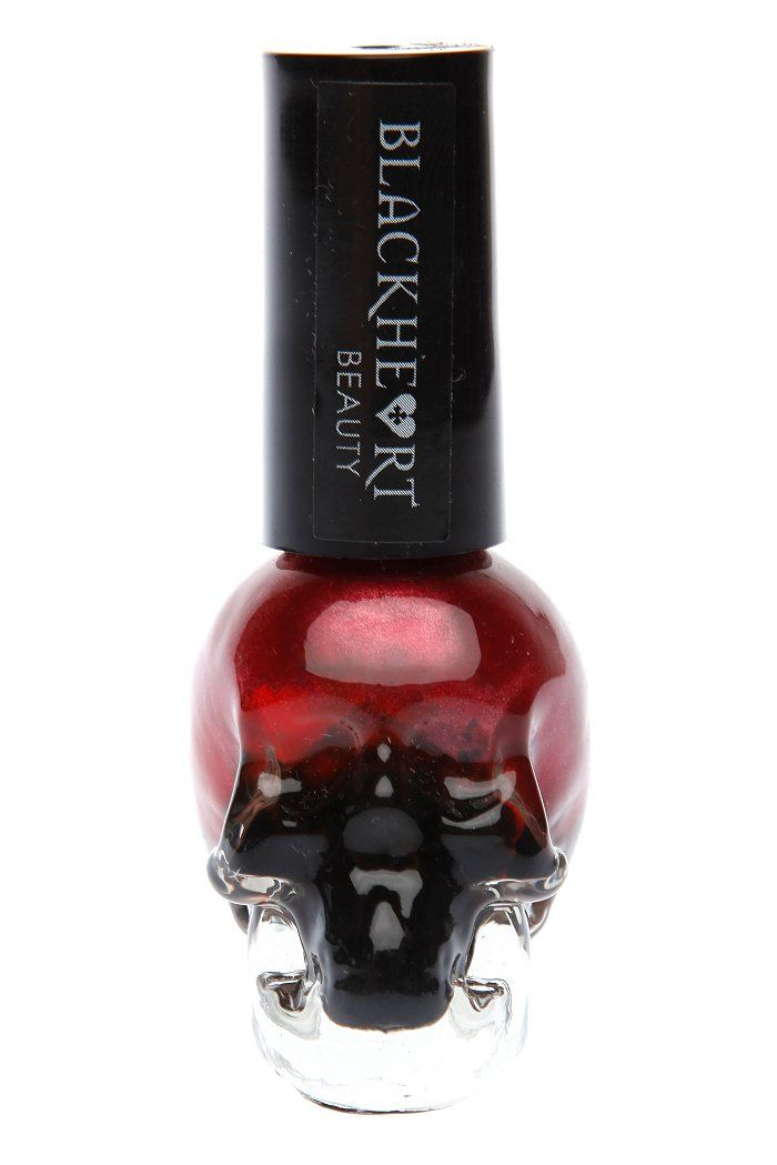 Blackheart Black And Red Stack Nail Polish   Gothic Beauty Poducts ...