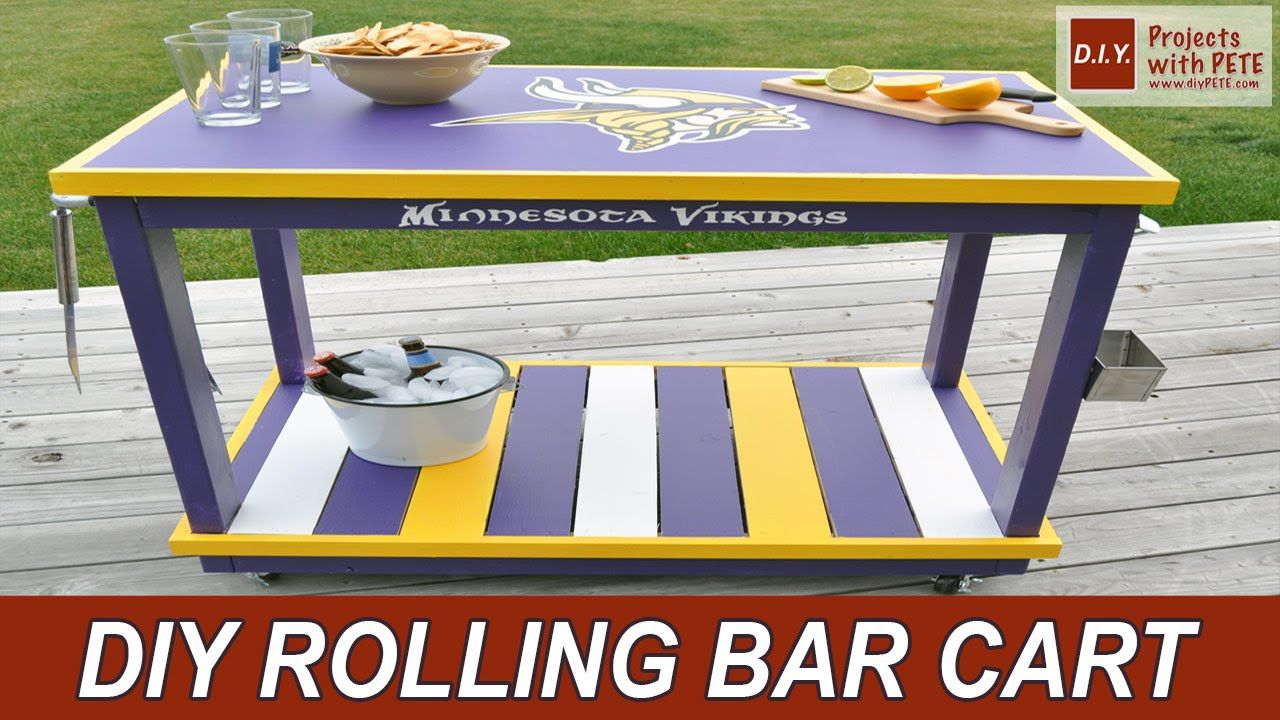 Video: Watch @petesveen Make A Tricked Out #MinnesotaVikings Bar Cart With  Authentic NFL Colors From Glidden Paint At @HomeDepot.