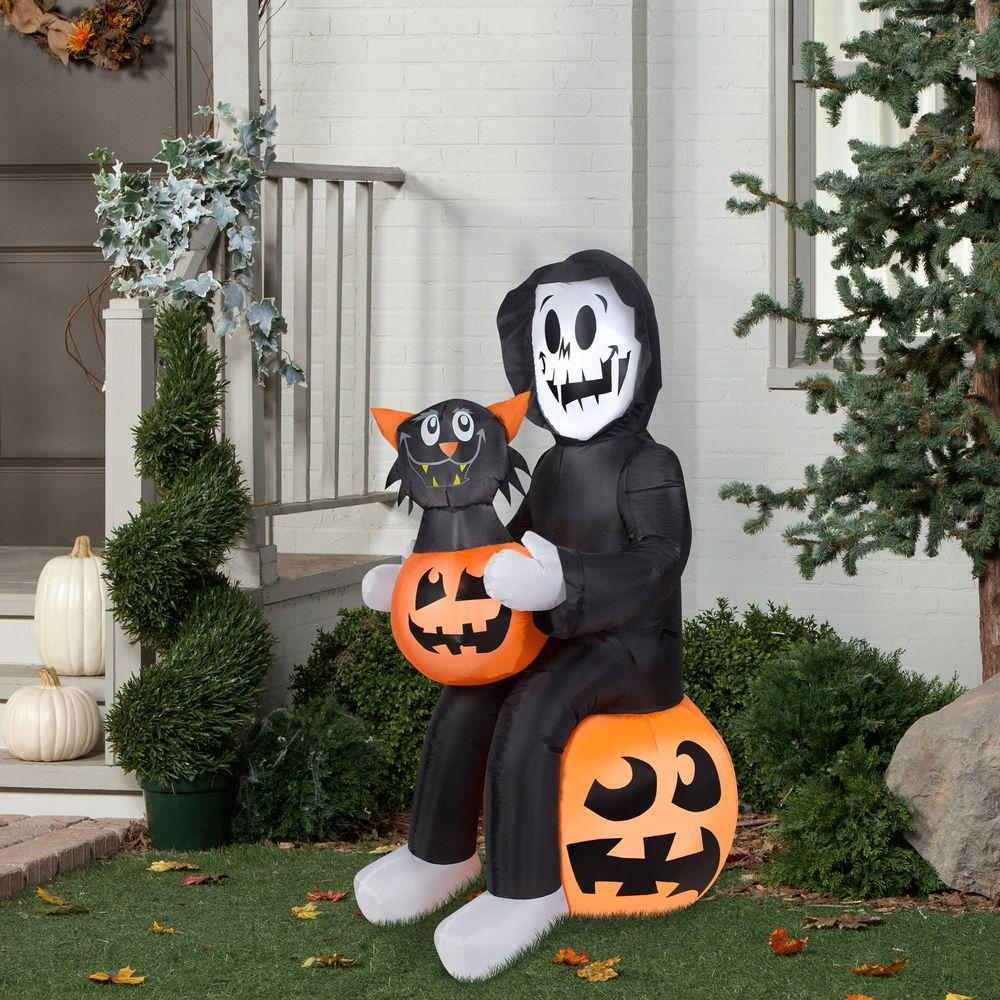 Inflatable Airblown Reaper\u0027S Surprise Spooky Outdoor Yard Halloween - Spooky Halloween Decorations