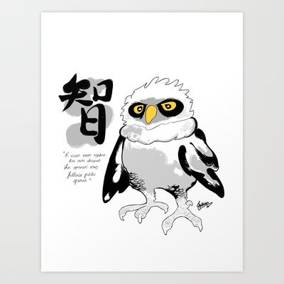 The Wise Owl Art Print by Julianchow - $17.00