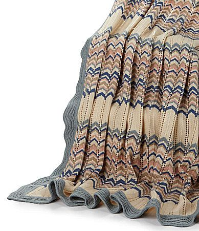 Nobility Multicolored Acrylic Knit Throw #Dillards