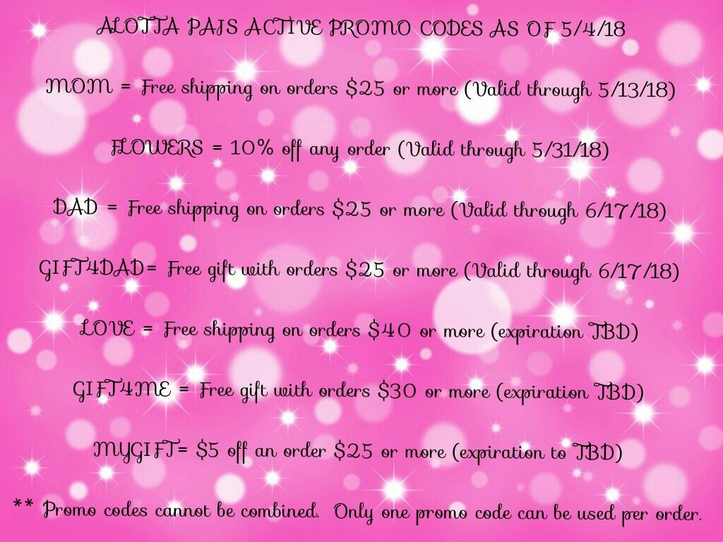 Active promo codes that are valid my link is in the