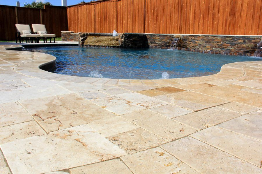 how to make concrete look like travertine