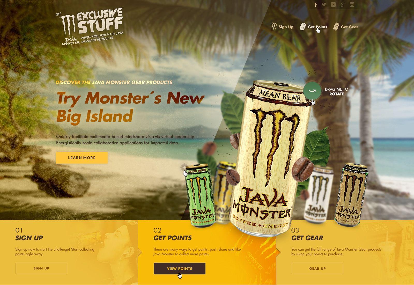 Java monster gear home