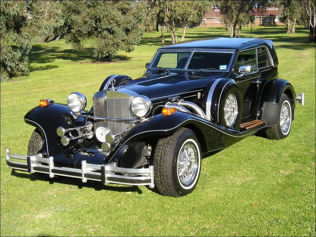 An American built Excalibur sports car modelled on a classic 1929 ...