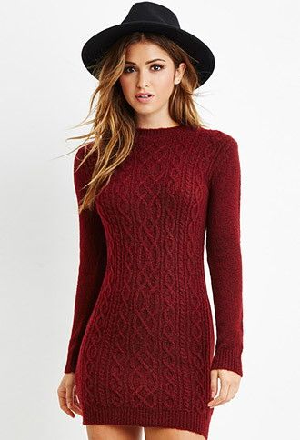 Forever 21  Cable Knit Sweater Dress 2000163215. I love the knotwork on  this dress! With leggings 5a715a152