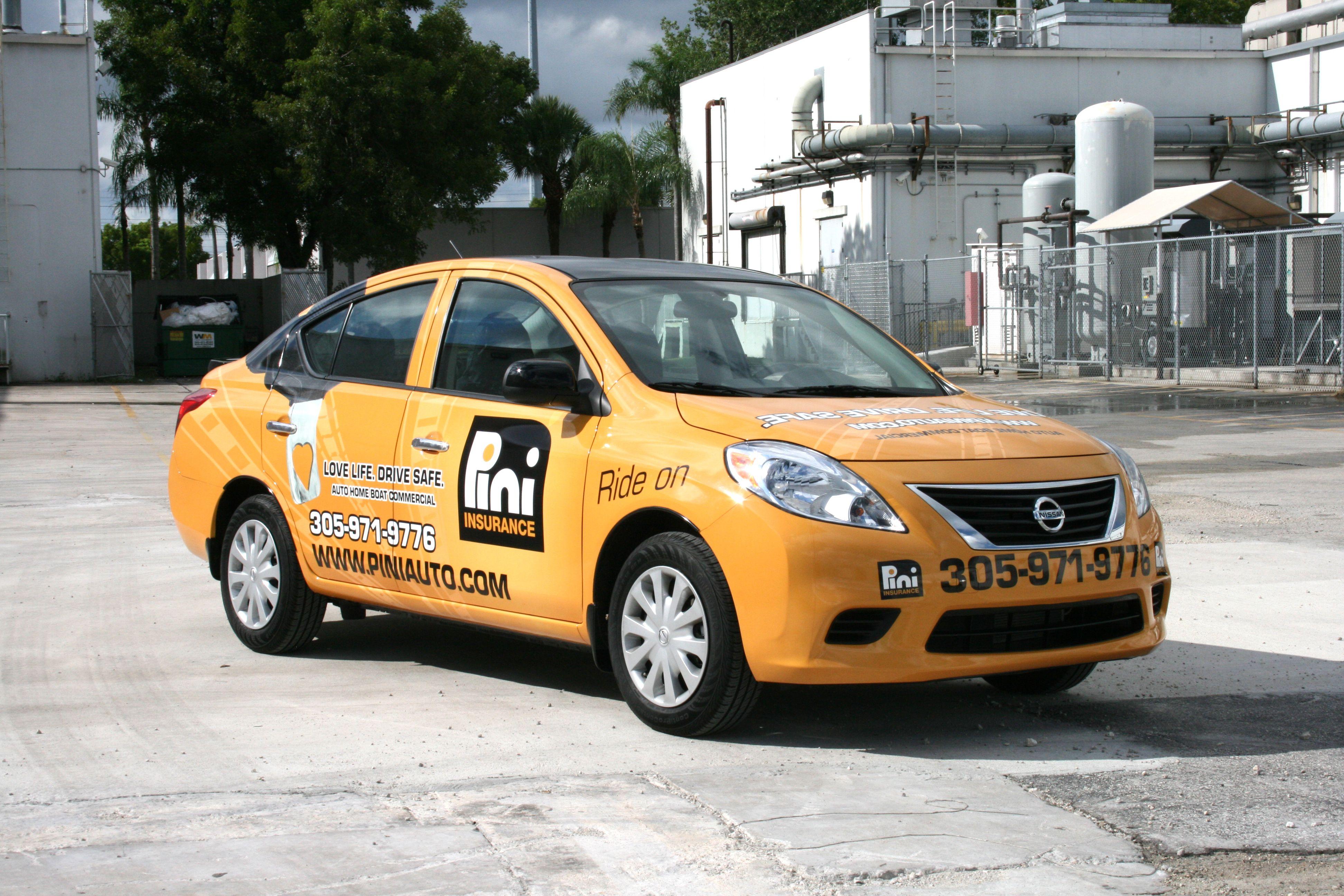 Nissan Versa 3m Vehicle Wrap Miami Florida By Car Wrap Solutions Http Carwrapsolutions Com Car Wrap Truck Lettering Car