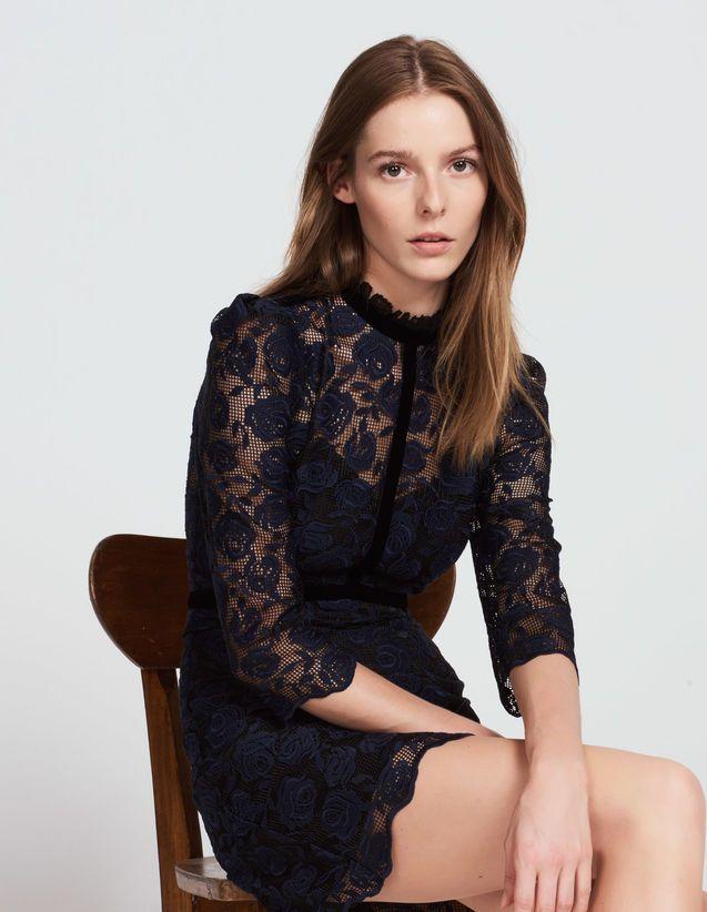 Fleur Navy Blue Sandro Pariscom In 2019 Fashion