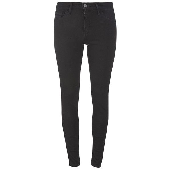 Levi's Women's 710 FlawlessFX Super Skinny Jeans - Black Cove (€110) ❤ liked on Polyvore featuring jeans, pants, black, zipper skinny jeans, skinny fit jeans, levi jeans, levi skinny jeans and skinny leg jeans