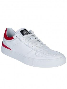 96a7d64ef31f Stone Island White Leather Tennis Trainers