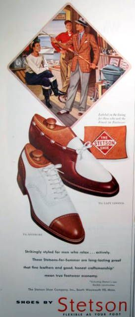 Vintage Ad Men S Shoes From Stetson Awesome Vintage Wingtips