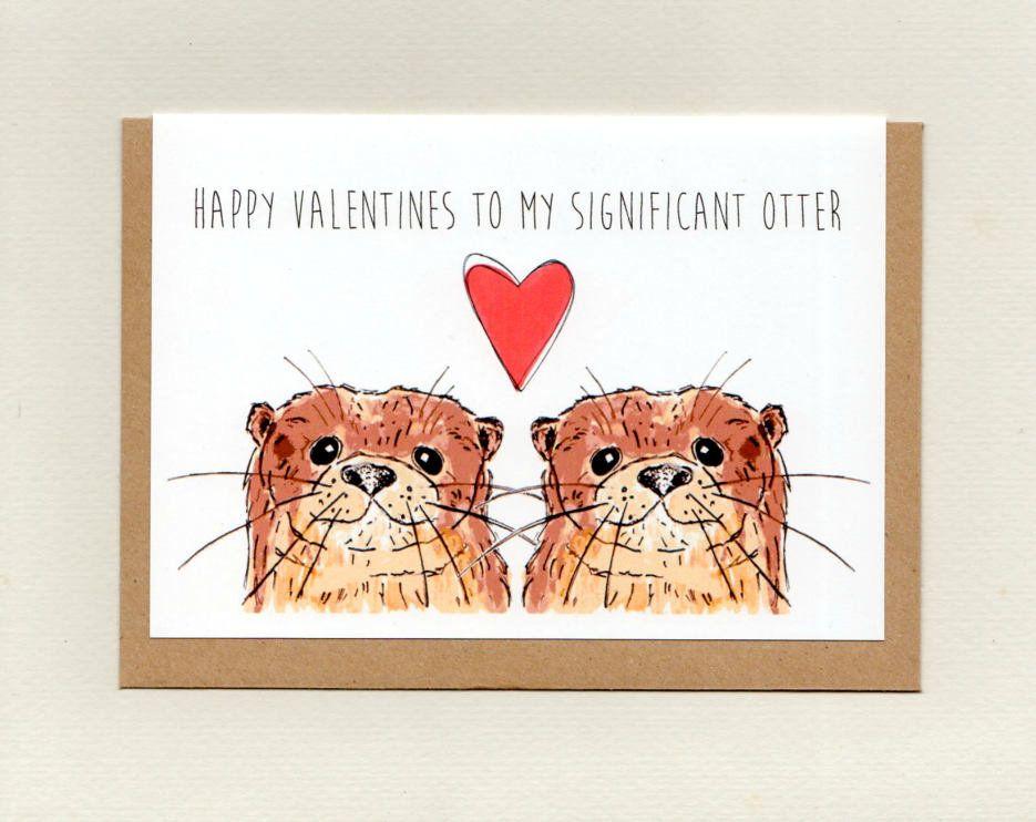 OTTER CARD boyfriend husband husband birthday anniversary valentines cute love