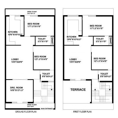 30 Feet By 60 Feet House Map House Map 2bhk House Plan My House Plans