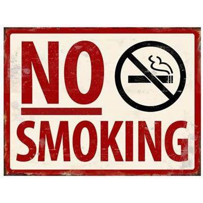 PLACA NO SMOKING 35X26.3