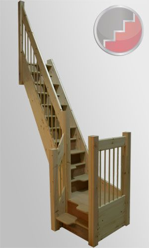 Best Spacesaver Staircase With A Quarter Turn Landing 400 x 300
