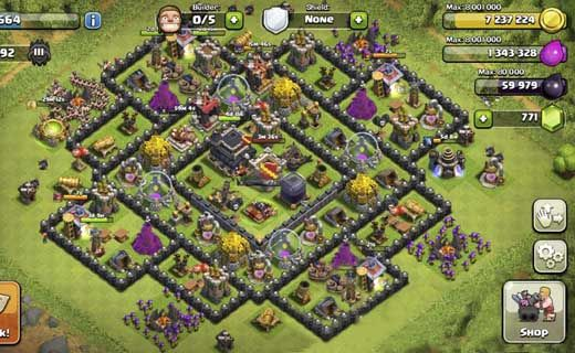 Base Coc Th 9 Anti Balon 7