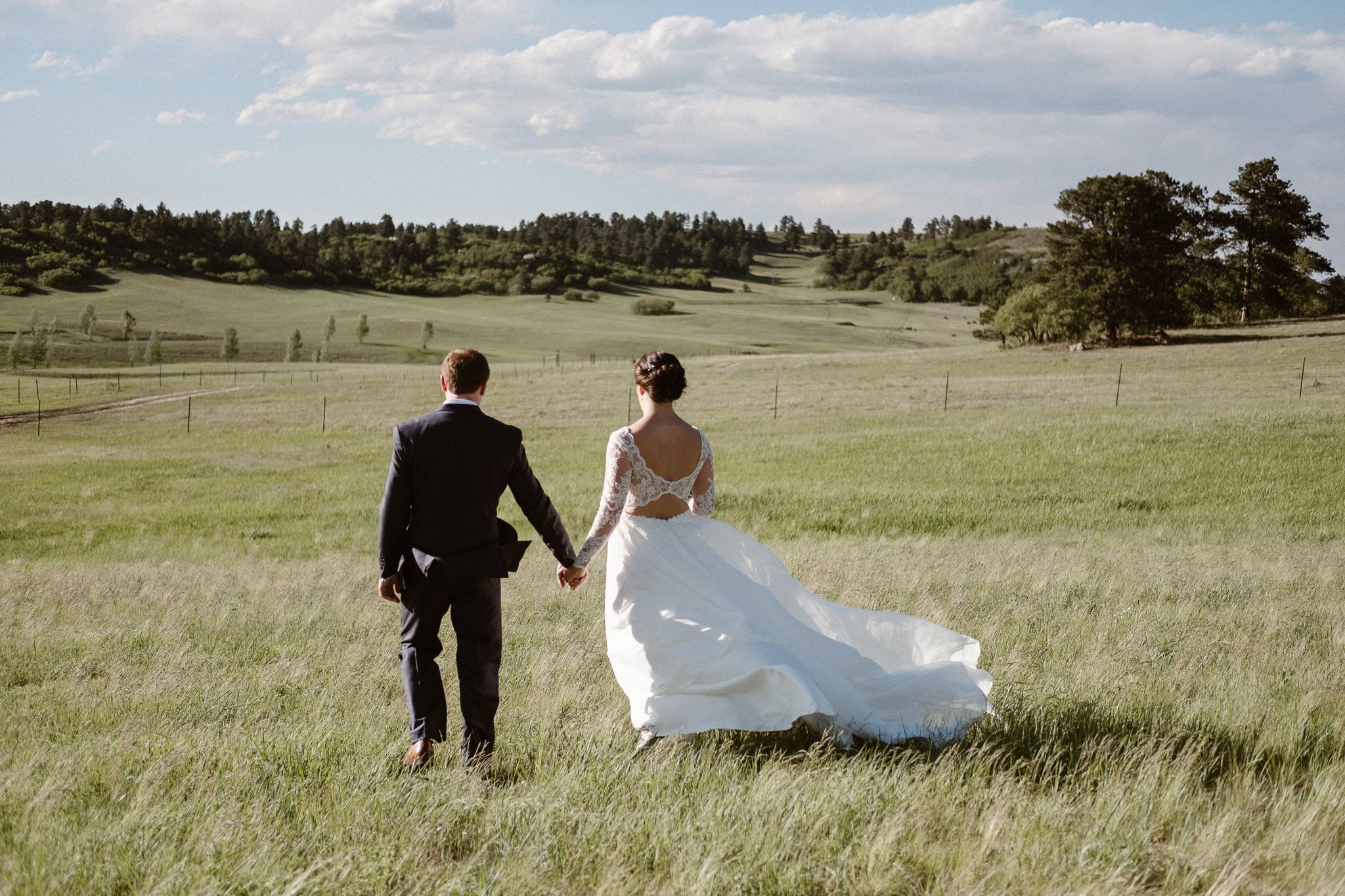 Flying horse ranch wedding outside of larkspur colorado