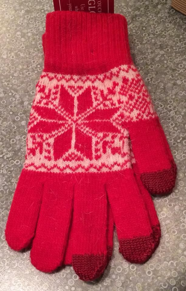 Snowflake Smart Tip Gloves  https://www.facebook.com/431114316922827/photos/a.855743194459935.1073741855.431114316922827/859793097388278/?type=3&theater
