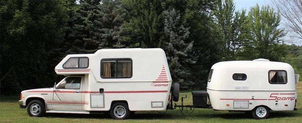 1987 Rare Scamp Mini Motorhome Fiberglass Camper Not Toyota Fiberglass Camper Mini Motorhome Best Truck Camper