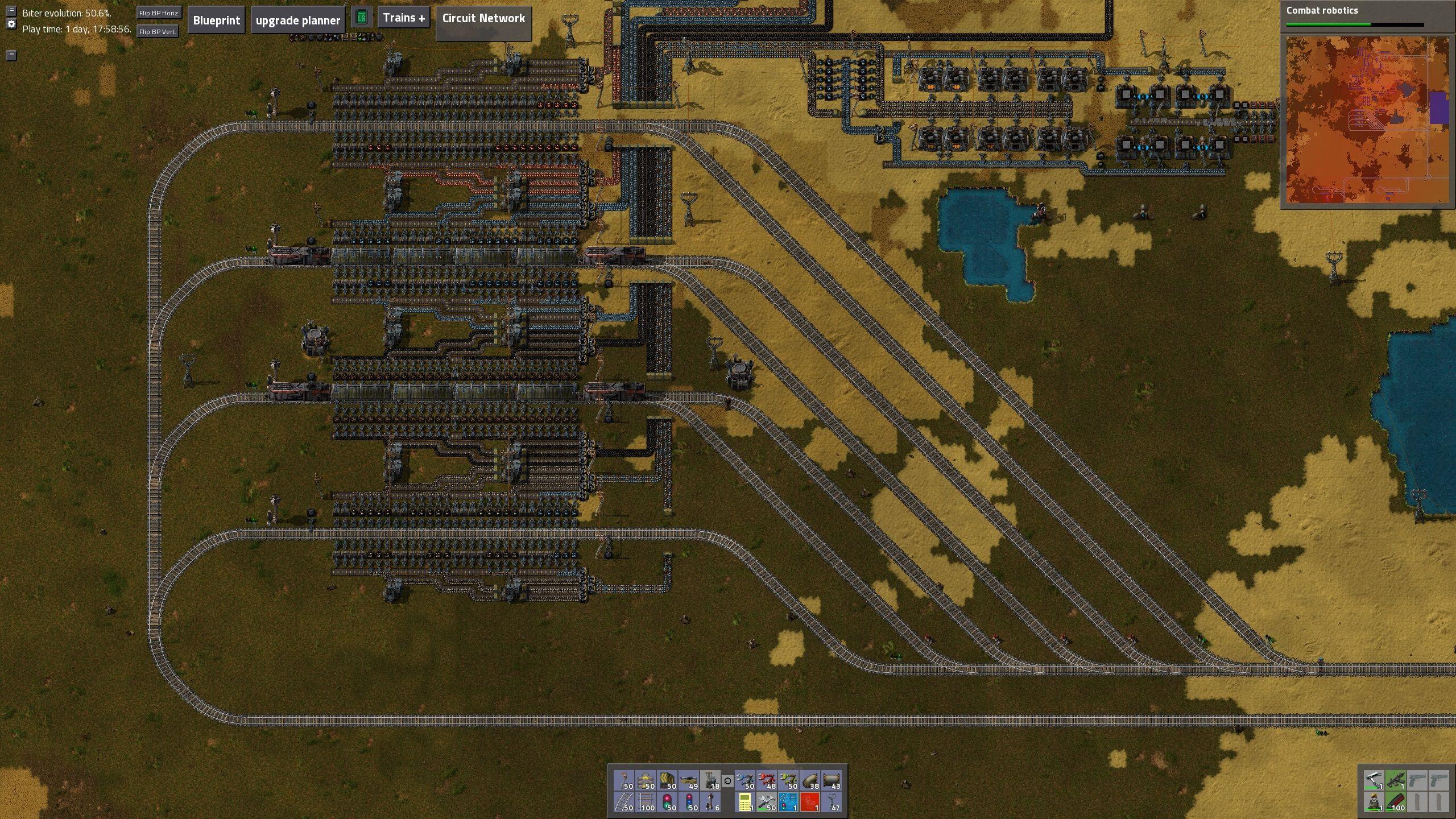 Factorio train unloading loop | Factorio | Train, Train